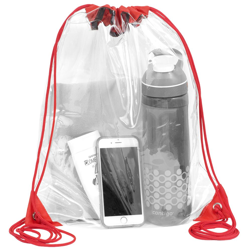 Touchdown Clear Drawstring Backpack -Small