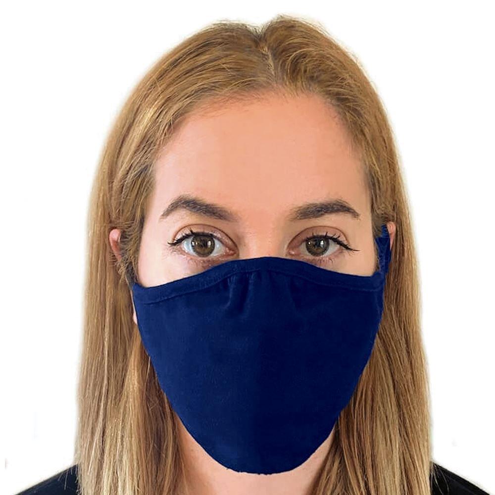 Next Level 2-Ply Blended Face Mask - Navy