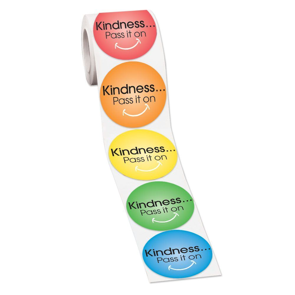 Kindness...Pass It On Stickers - Roll of 200