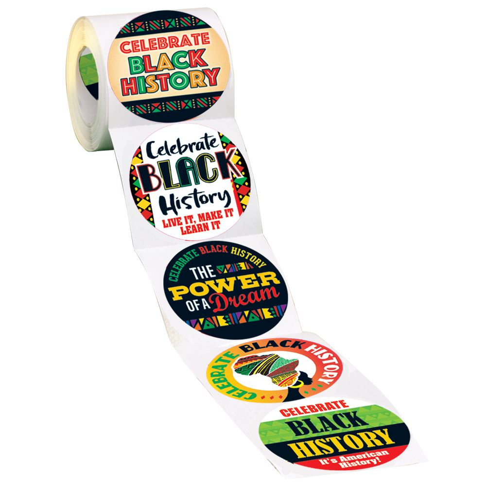Celebrate Black History 5-On-A-Roll Stickers