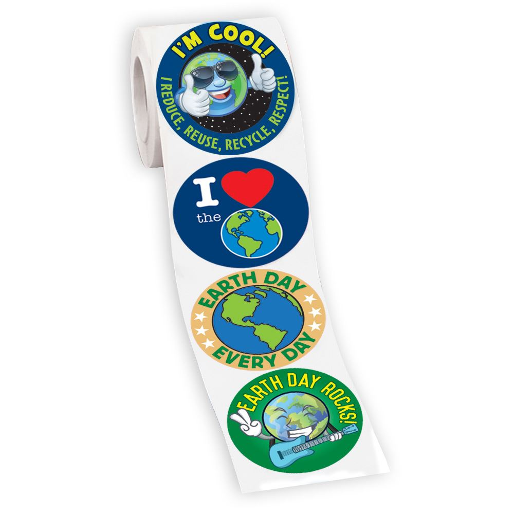 200 Earth Day 4-On-A Roll Stickers