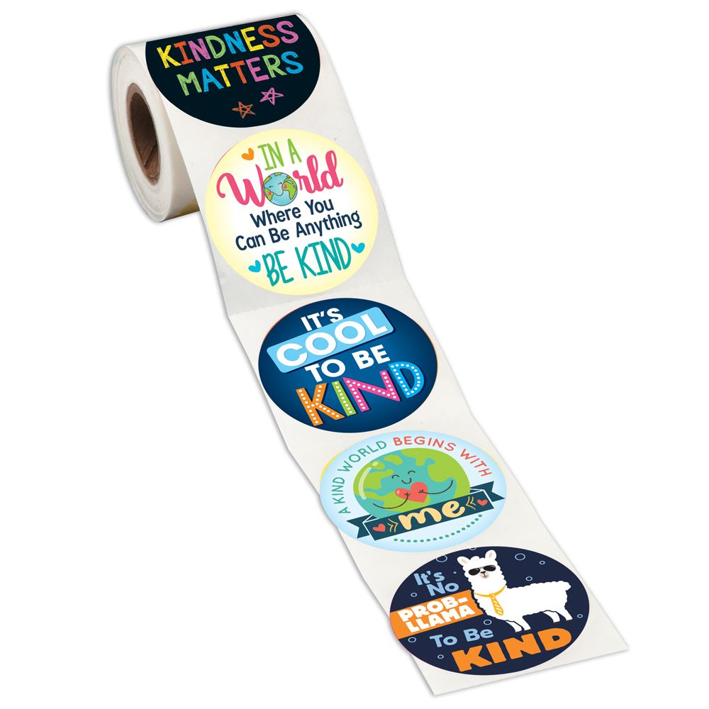 Kindness Assortment Sticker Rolls - Pack of 200