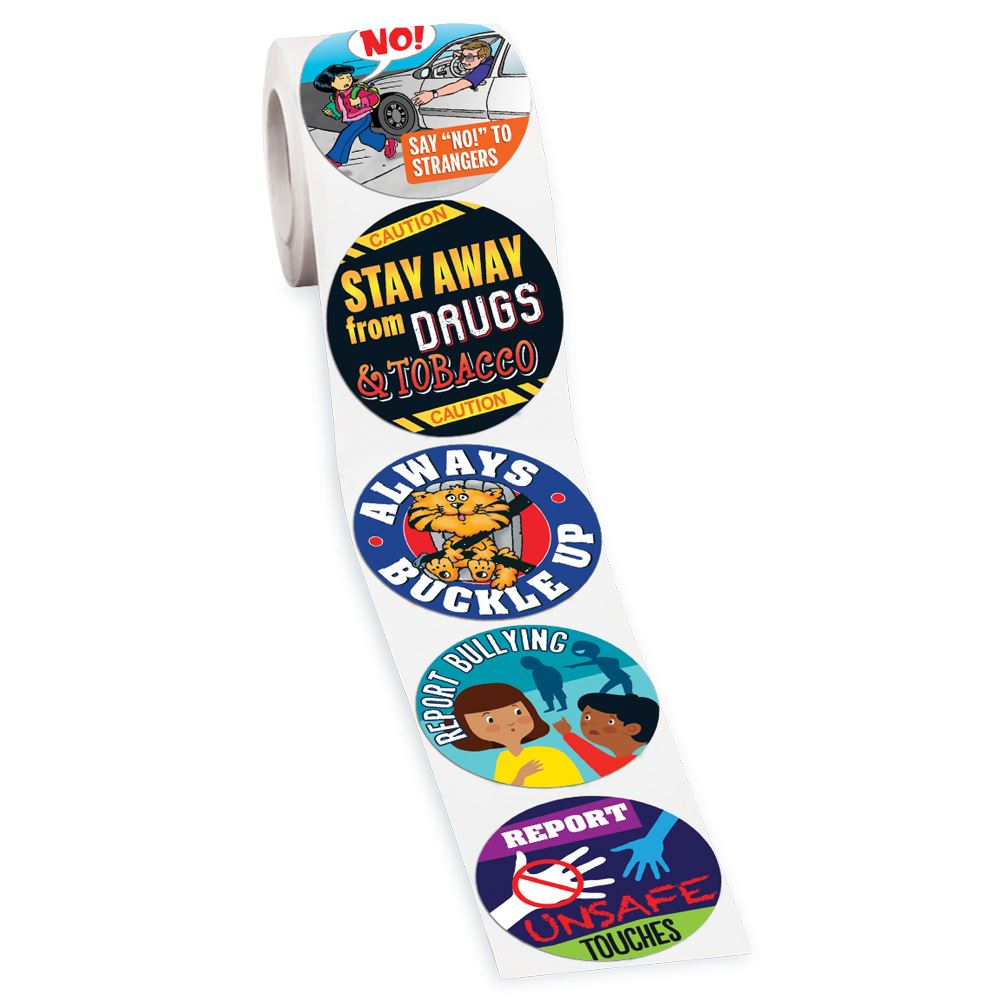 Safe Habits 5-On-A-Roll Stickers - 200 Stickers Per Roll