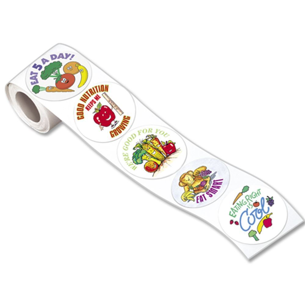Good Nutrition 5-On-A-Roll Message Stickers