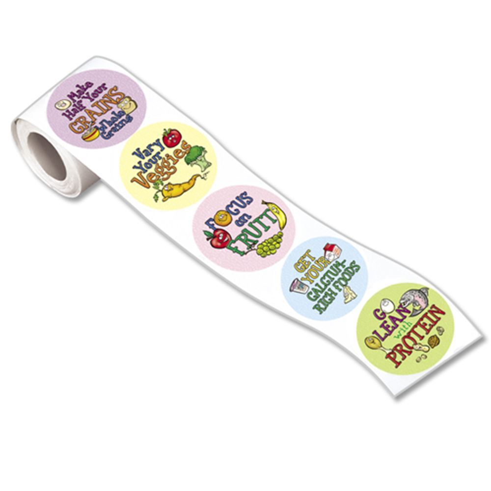 MyPlate Food Groups 5-On-A-Roll Stickers
