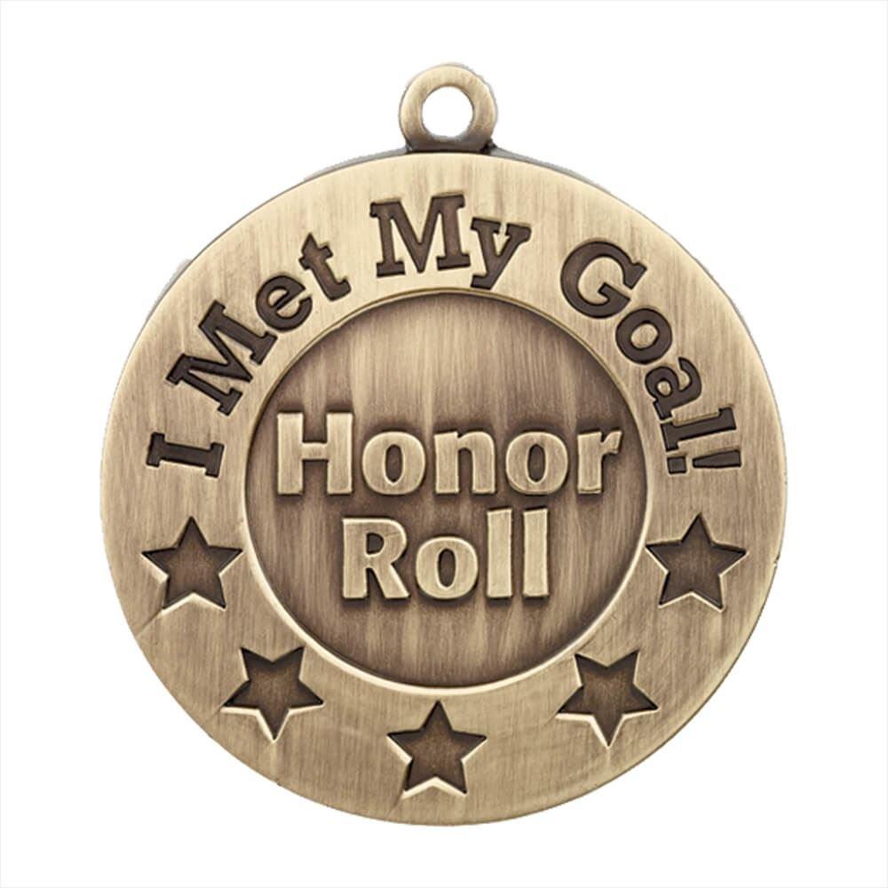 I Met My Goal/Honor Roll Gold Academic Medallion