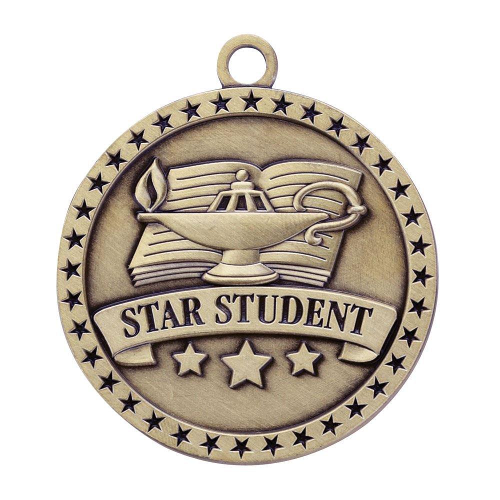 Star Student Gold Academic Medallion