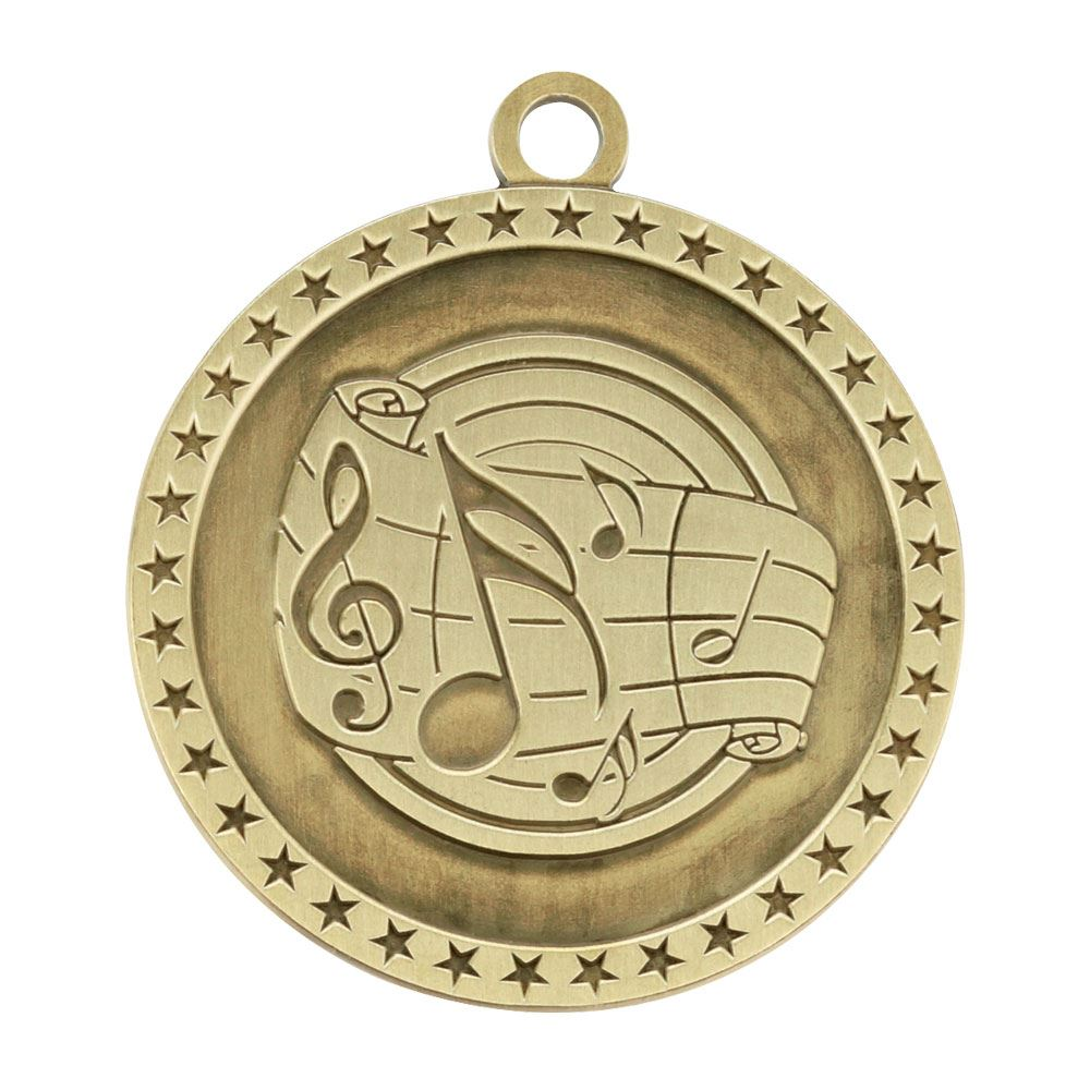 Music Gold Academic Medallion