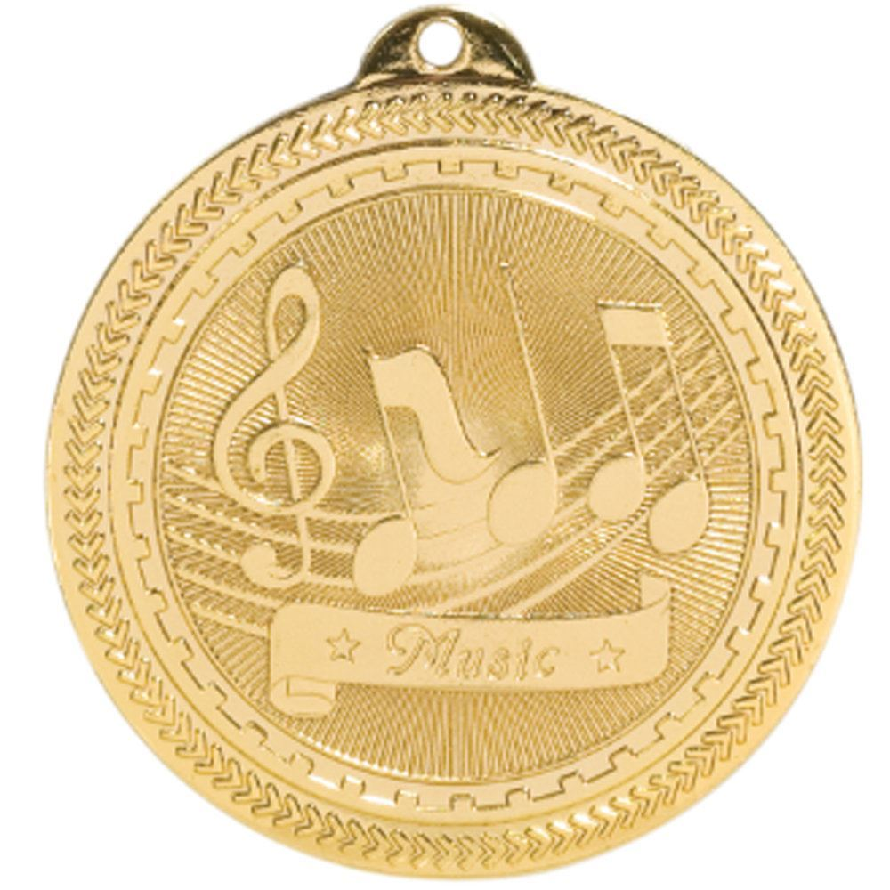 Music Shiny Gold Academic Medallion