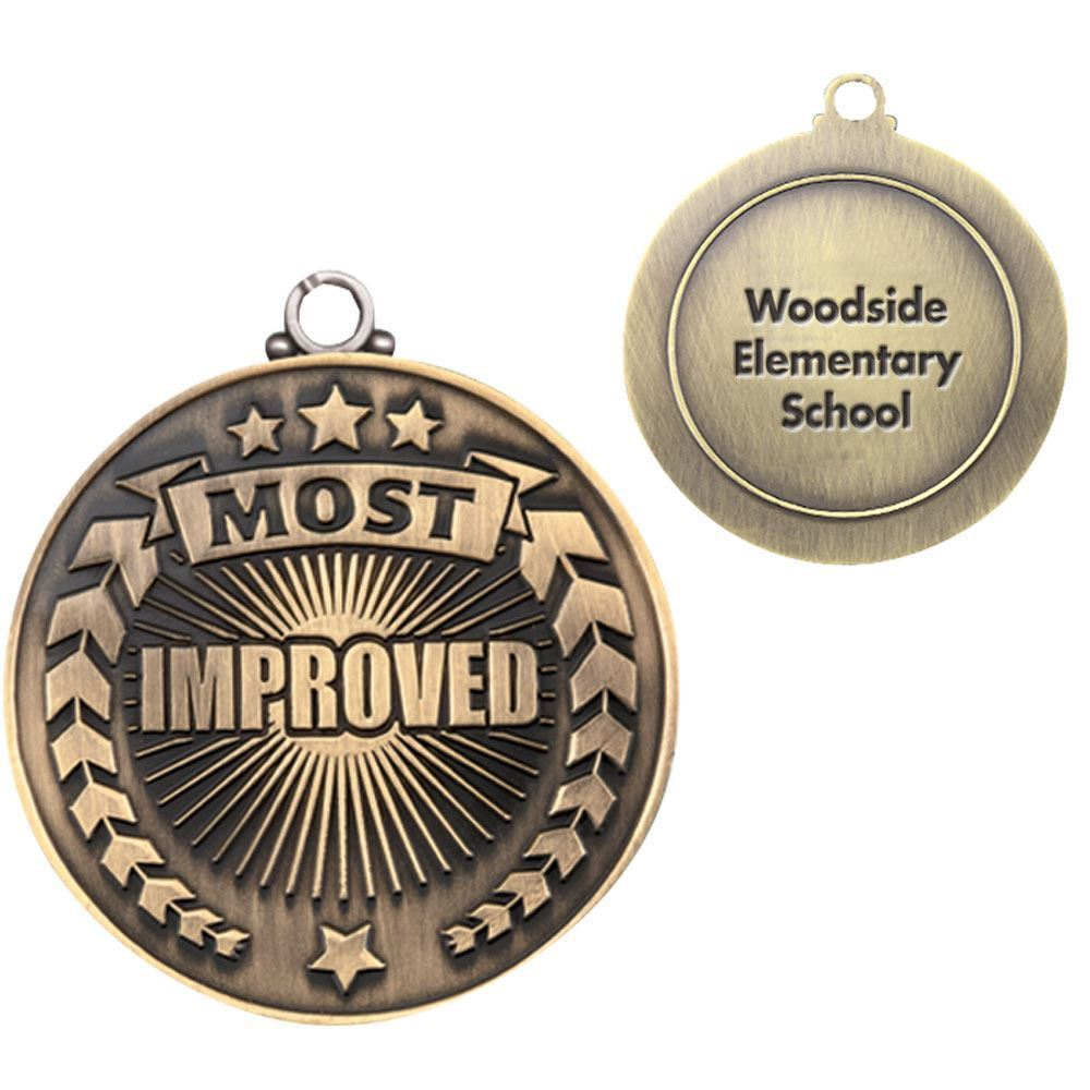 Most Improved Gold Academic Medallion - Personalization Available