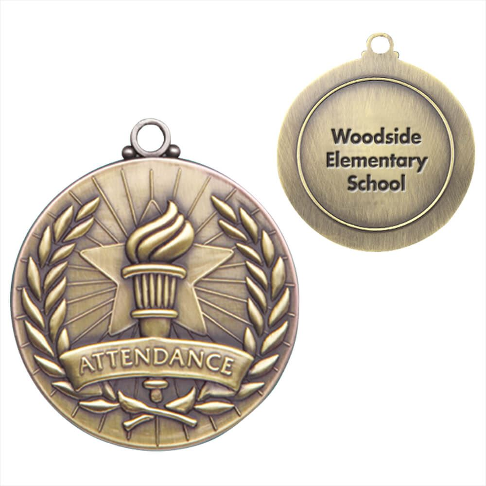 Attendance Gold Academic Medallion - Personalization Available