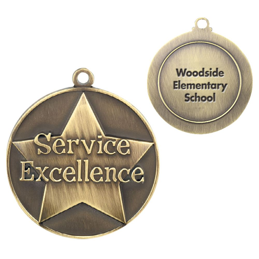 Service Excellence Gold Academic Medallion - Personalization Available