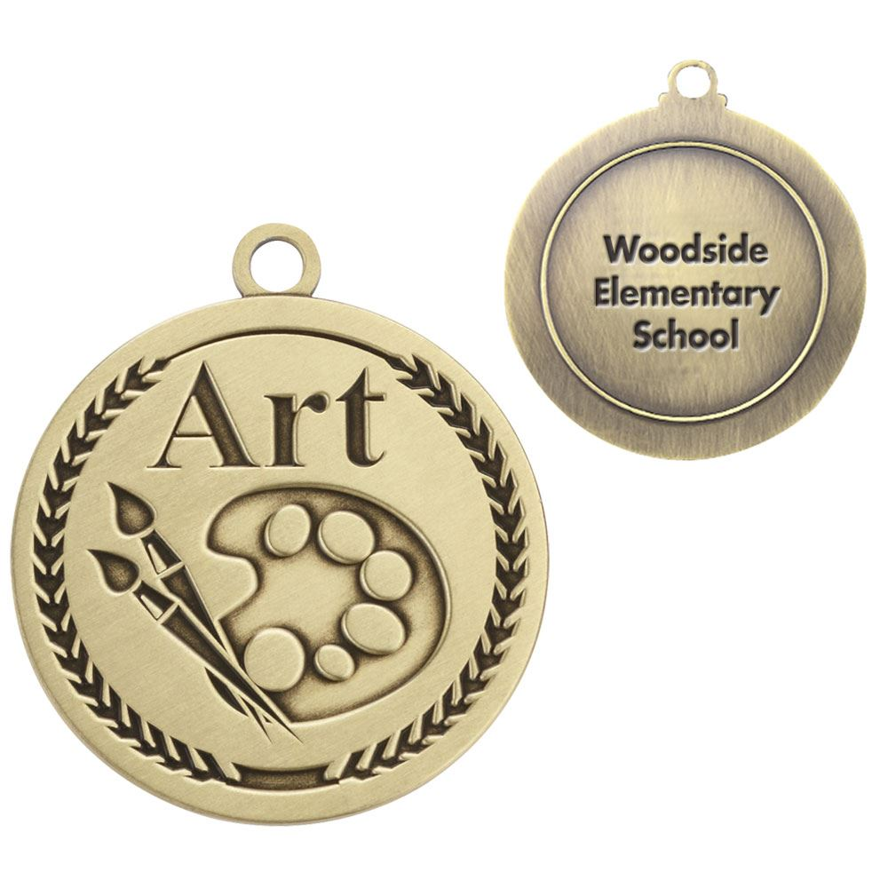 Art Gold Academic Medallion - Personalization Available