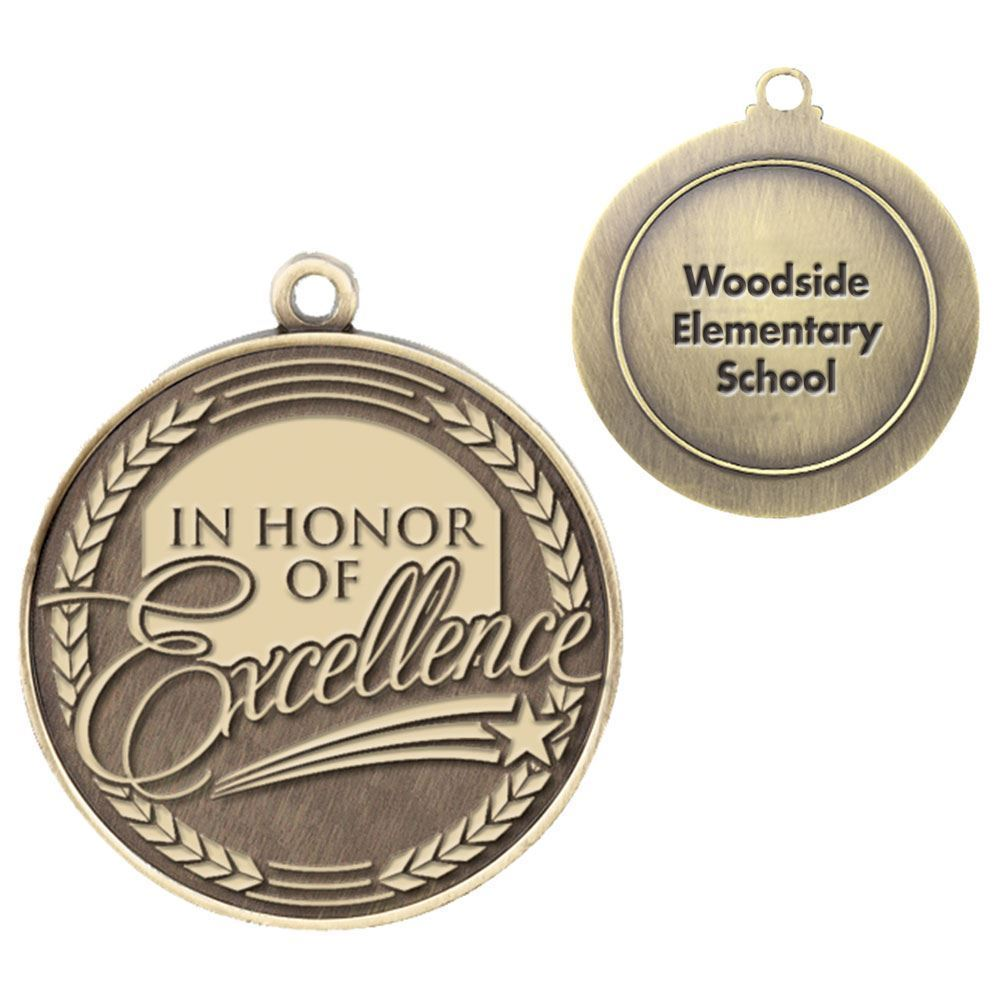 In Honor Of Excellence Gold Academic Medallion - Personalization Available