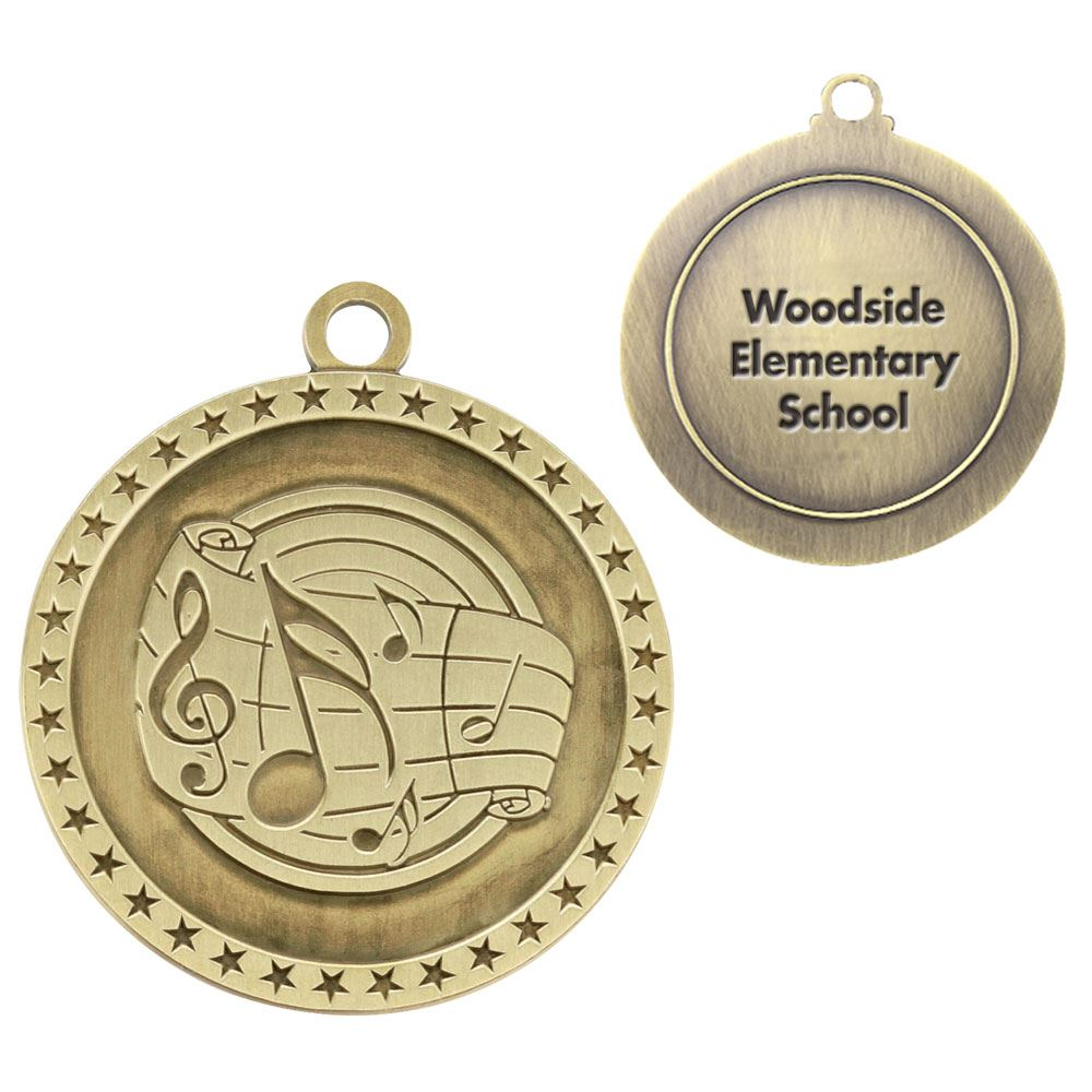 Music Gold Academic Medallion - Personalization Available