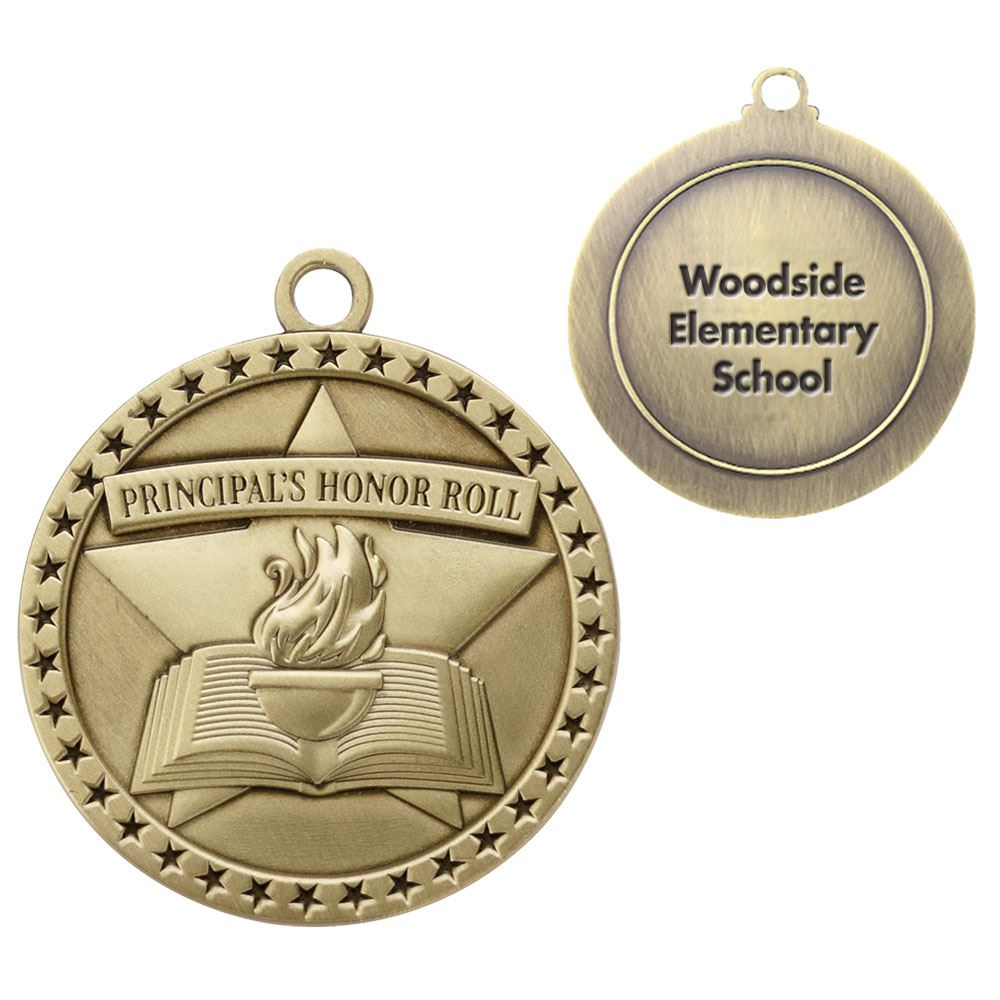 Principal's Honor Roll Gold Academic Medallion - Personalization Available