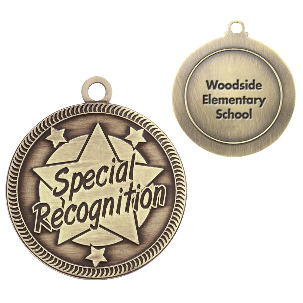 Special Recognition Gold Academic Medallion - Personalization Available