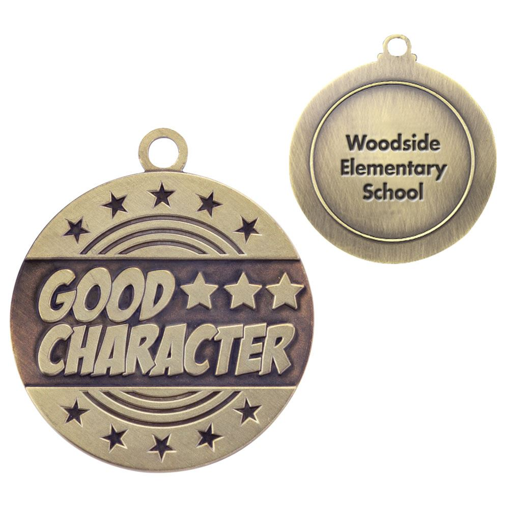 Good Character Gold Academic Medallion - Personalization Available