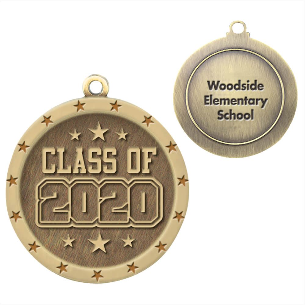 Class Of 2020 Gold Academic Medallion - Personalization Available