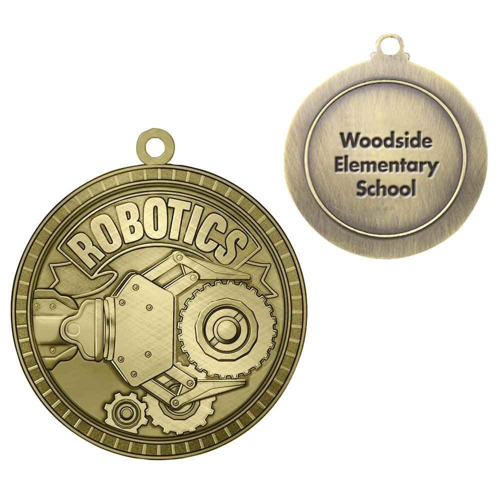 Robotics Gold Academic Medallion - Personalization Available
