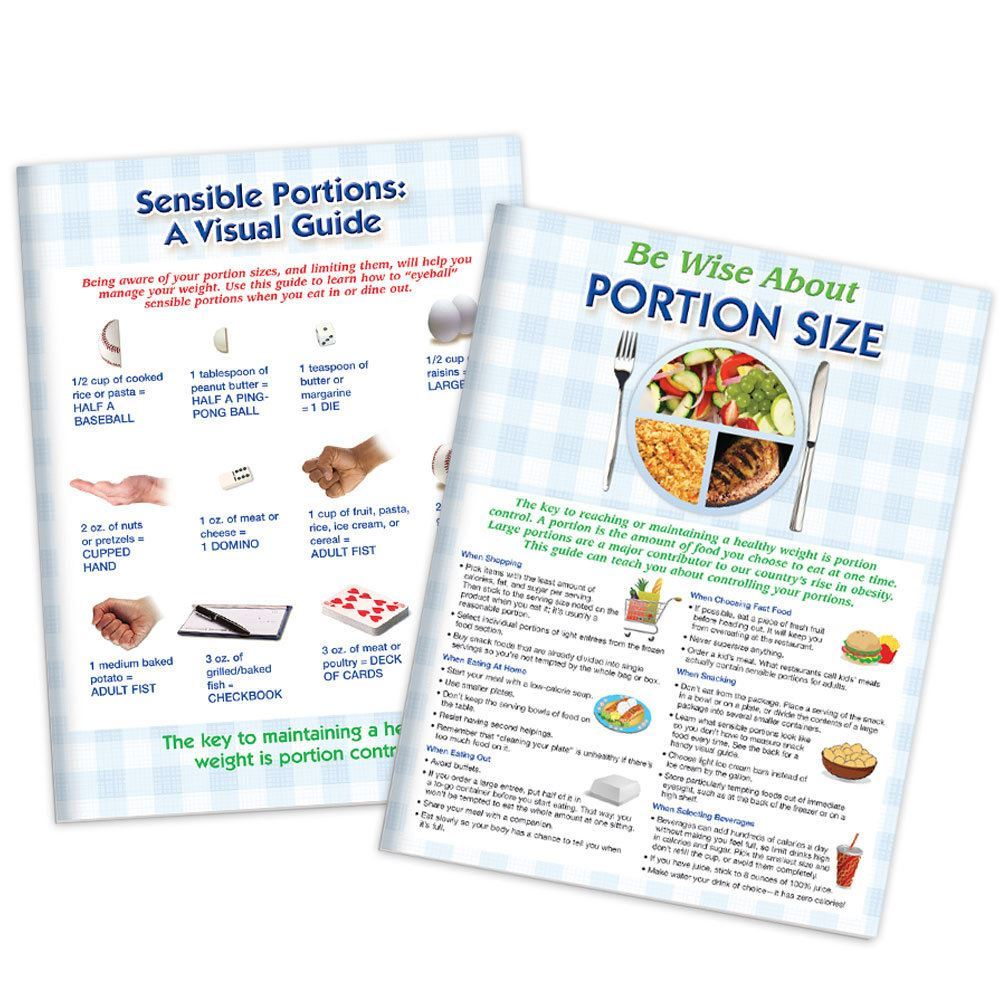 Be Wise About Portion Size 56-Page Tear-Off Tablet