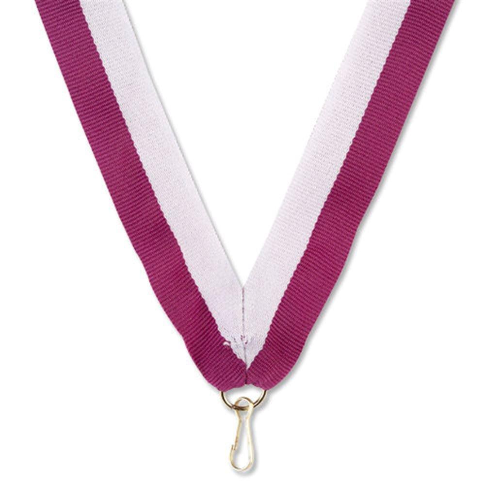 """Purple/White 30"""" Neck Ribbon"""
