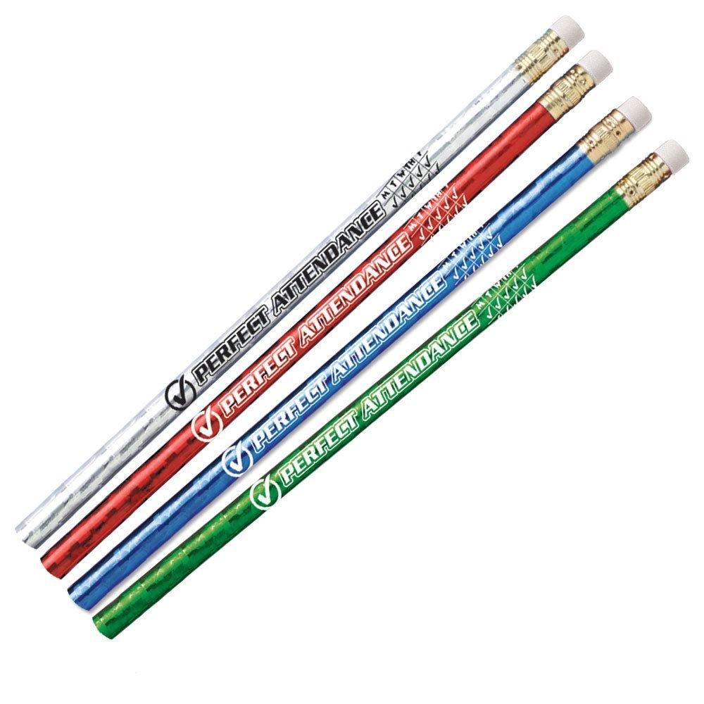 Perfect Attendance Sparkle Foil Pencil 100-Piece Assortment Pack