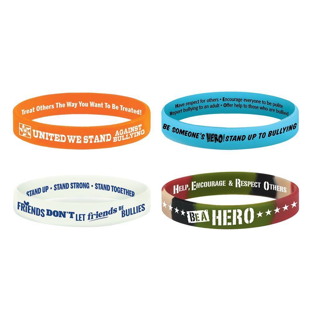 c bully bracelets choices promotions drug anti bracelet positive ribbon bullying free awareness red good tlvledu silicone character