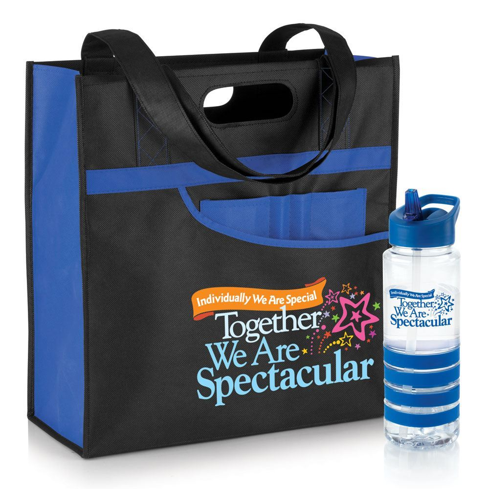 Individually We Are Special Together We Are Spectacular Setauket Tote & Water Bottle Combo