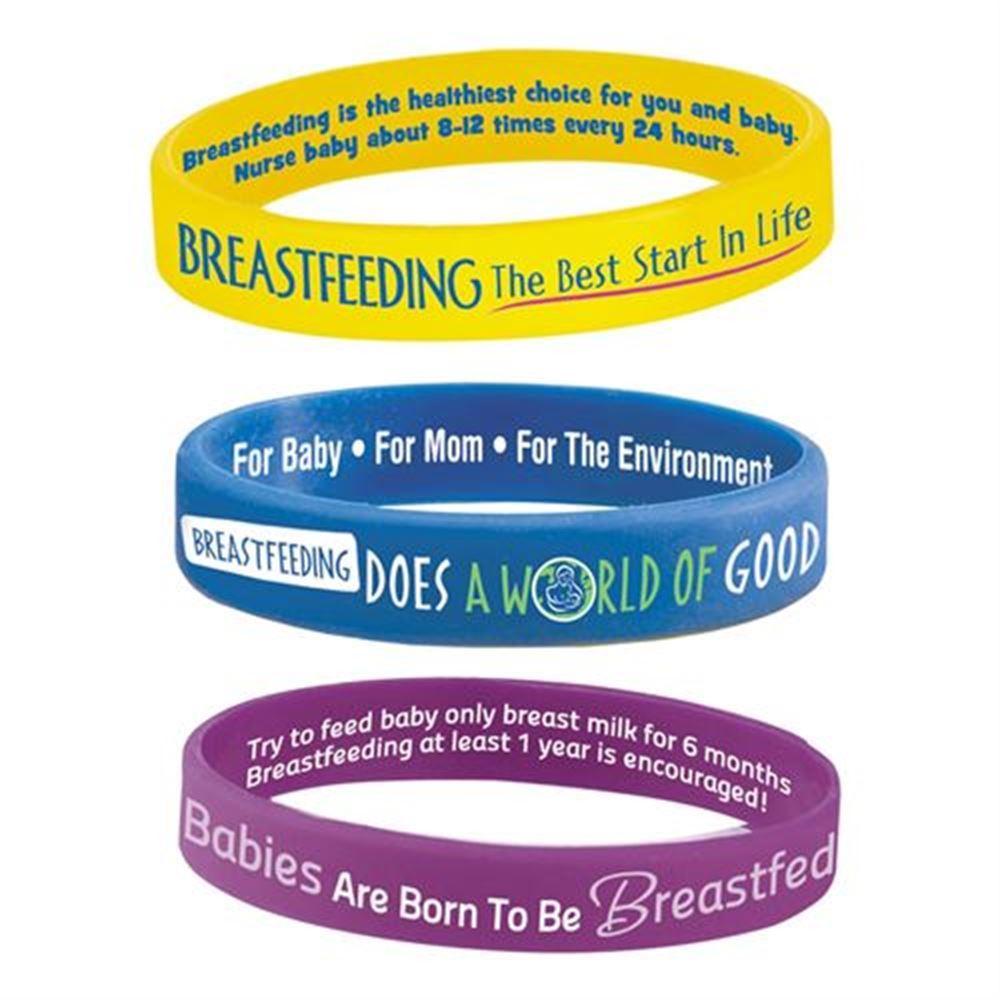 Breastfeeding Silicone Bracelet Assortment Pack