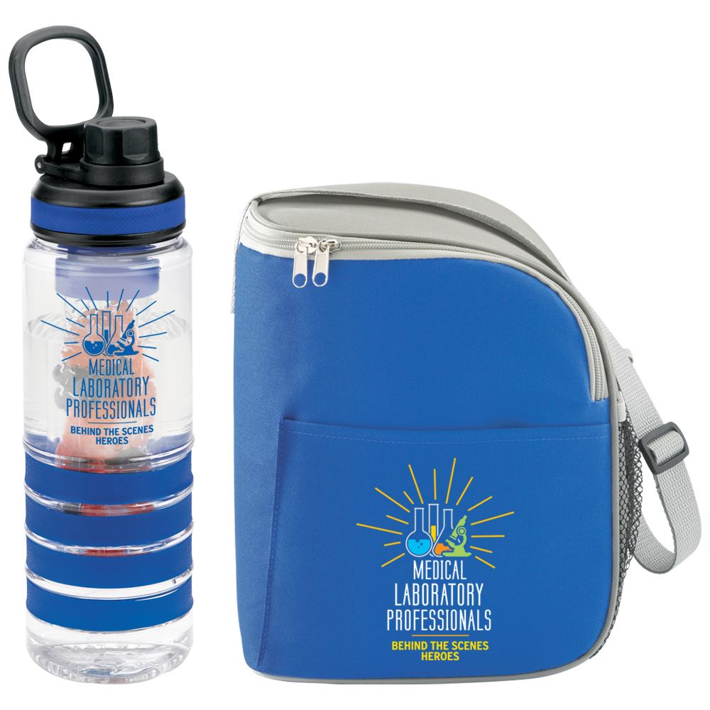 Med Lab Behind The Scenes Heroes Eastport Lunch Bag And Fresno Fruit Infuser Water Bottle Combo