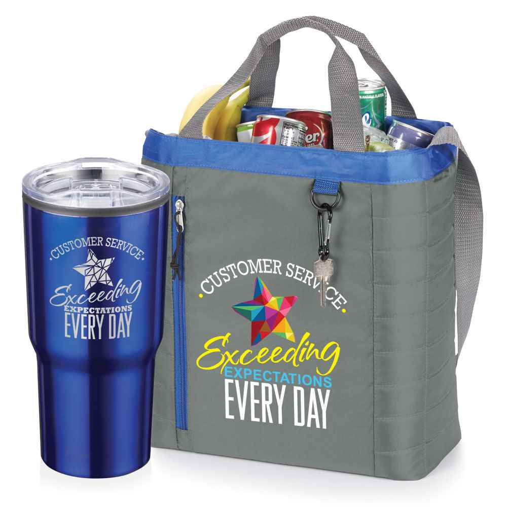 Customer Service: Exceeding Expectations Every Day Timber Insulated Travel Tumbler & Seville Cooler Bag Combo
