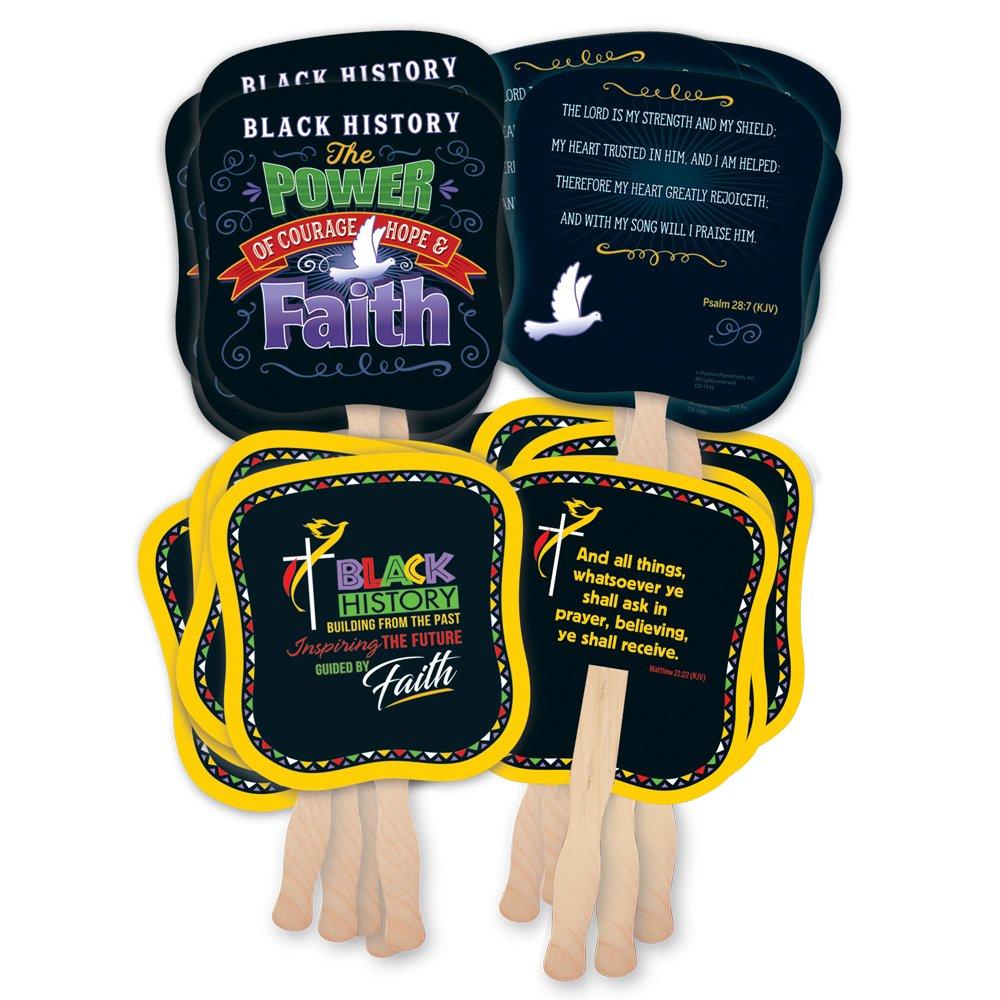 Black History Hand Fan 50-Piece Assortment Pack