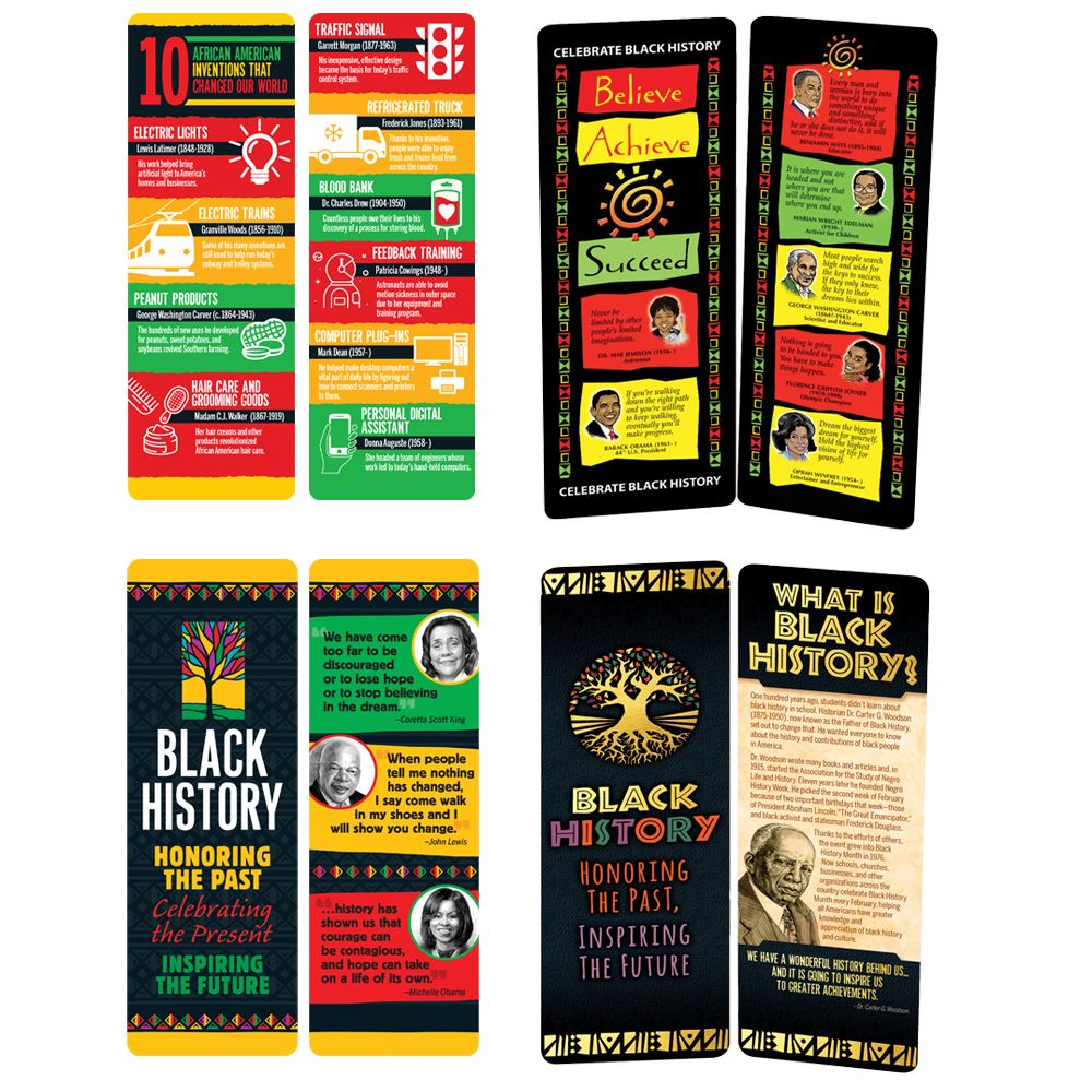 Black History Month Bookmark 300-Piece Assortment Pack