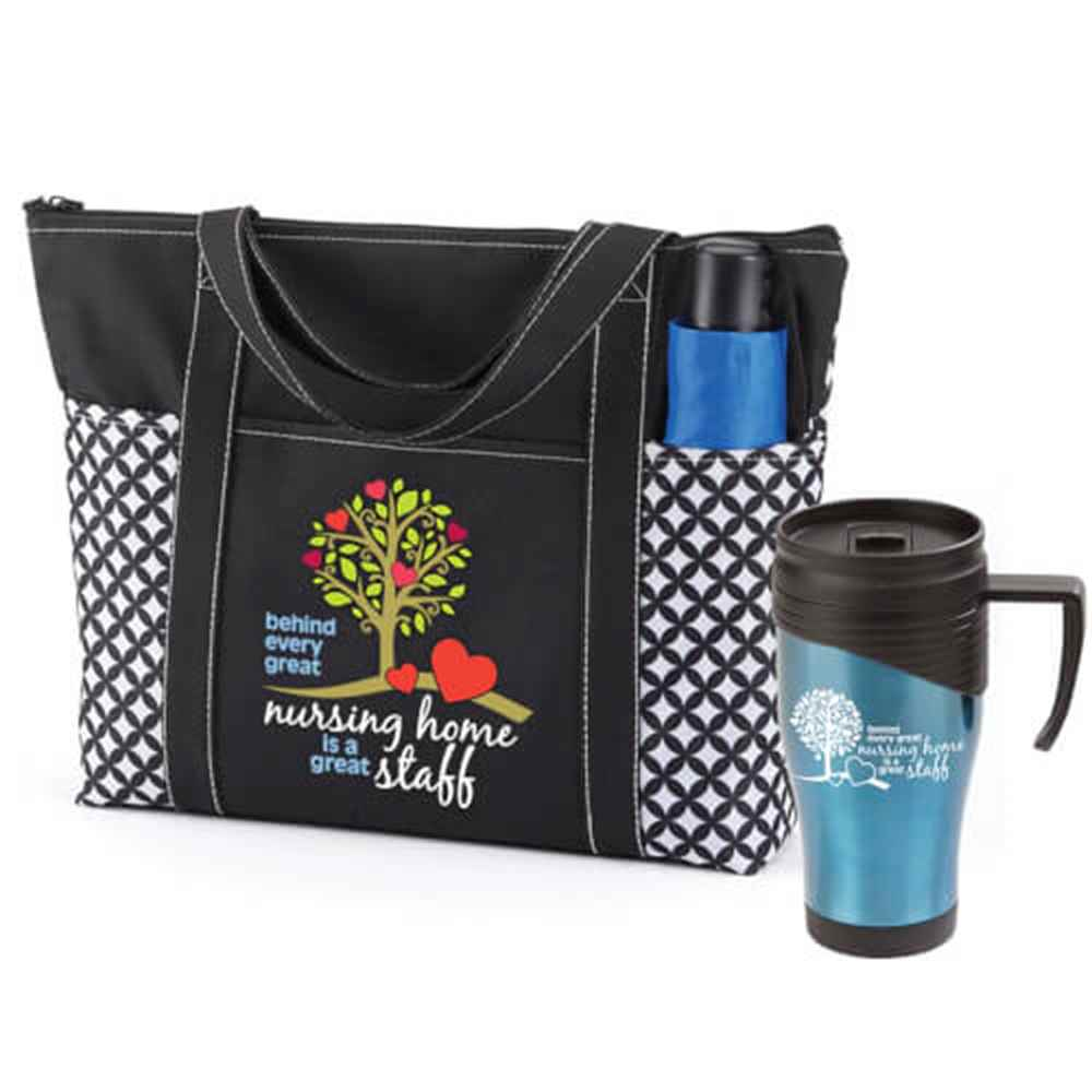 Behind Every Great Nursing Home Is A Great Staff Atlantic Tote Bag & Easton Travel Mug Gift Set