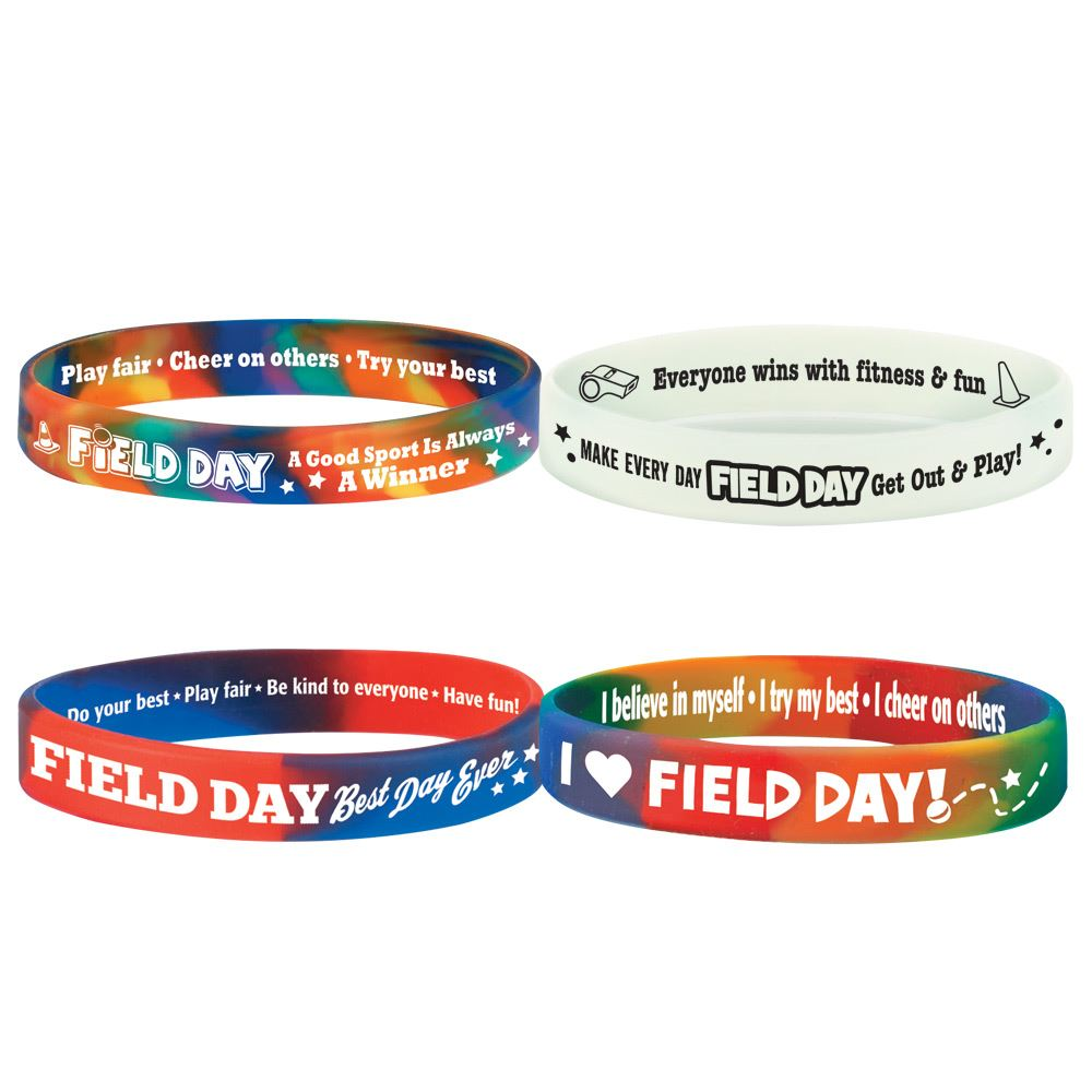 Field Day Silicone Bracelet 40-Piece Assortment Pack