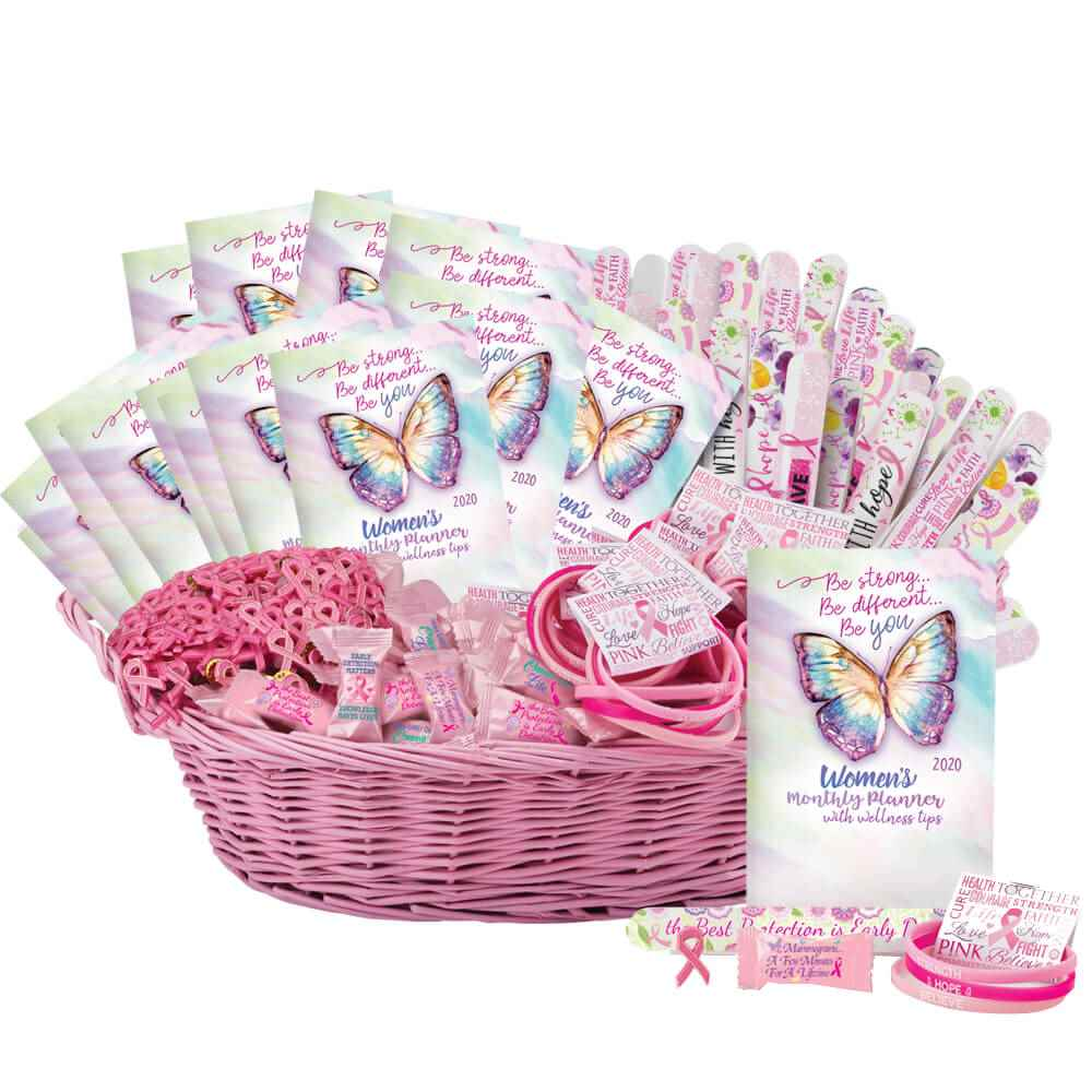Super Deluxe Breast Cancer Awareness Assortment With Display Basket