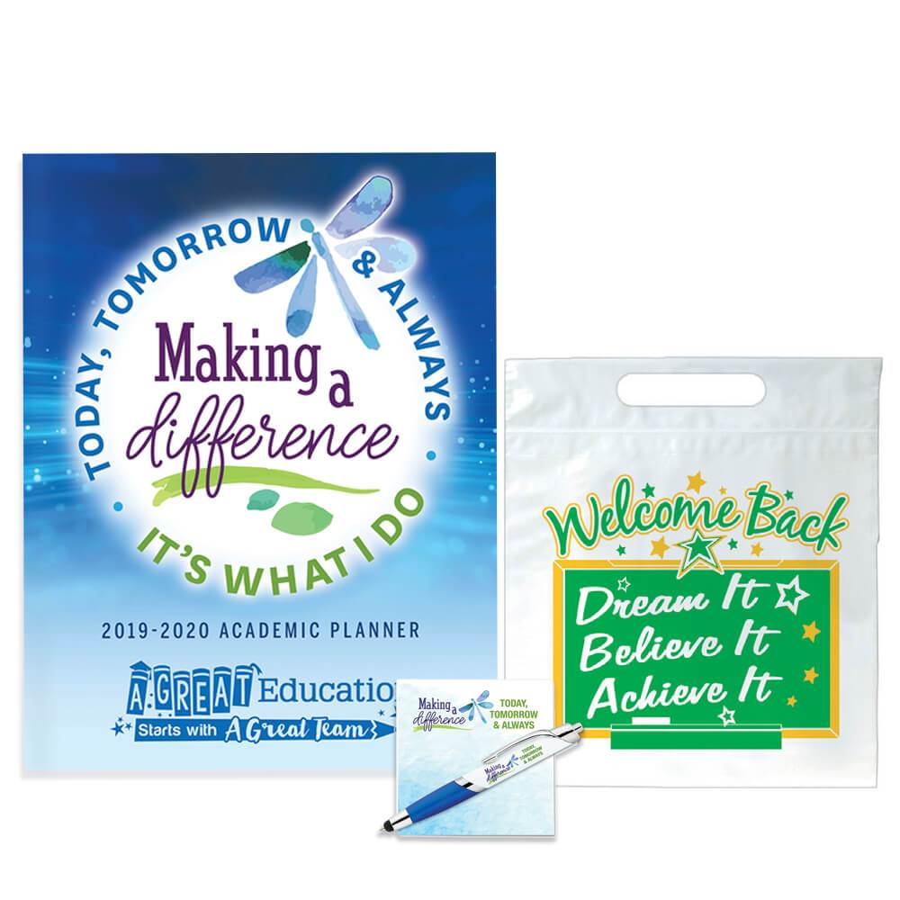 Welcome Back Making A Difference Today, Tomorrow & Always: It's What I Do Planner, Sticky Pad, & Pen Set