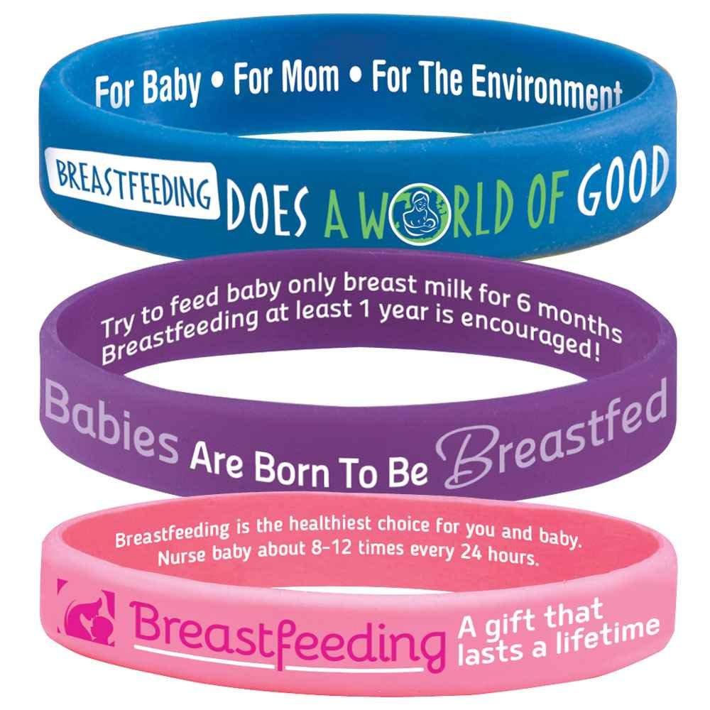 Breastfeeding Silicone Bracelet Assortment Pack