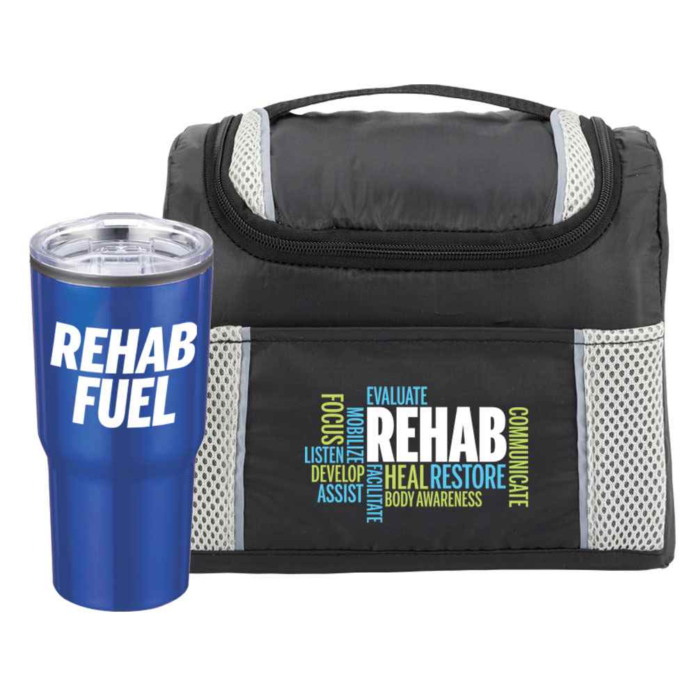 Rehab Bayville Lunch/Cooler Bag & Timber Travel Tumbler Gift Set
