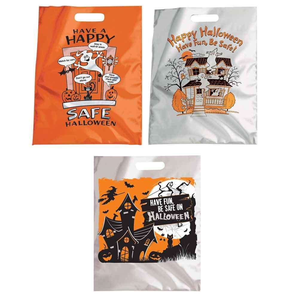 Reflective Halloween Trick-Or-Treat Bag 150-Piece Assortment