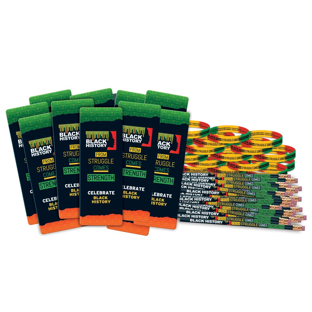 Black History: From Struggle Comes Strength 300-Piece Value Pack