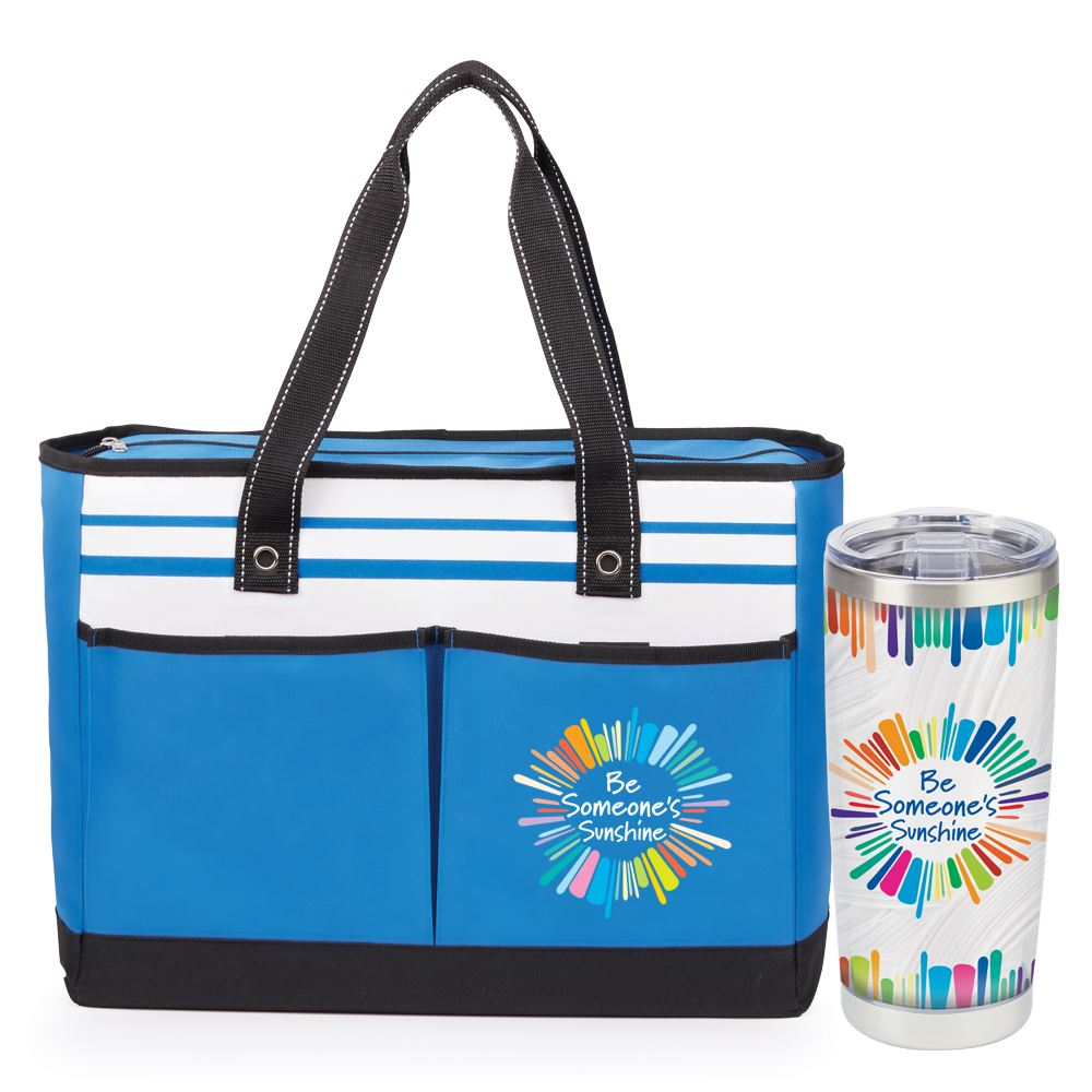 Be Someone's Sunshine Insulated Tumbler & Traveler Two-Pocket Tote Bag Gift Set