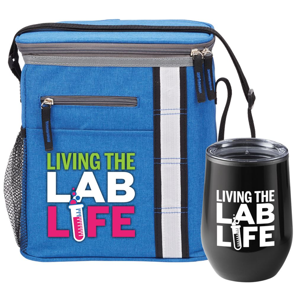 Living The Lab Life Tumbler & Lunch/Cooler Bag Gift Set