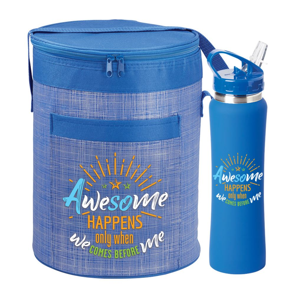 Awesome Happens Only When We Comes Before Me Brookville Barrel Lunch Bag & Lakewood Water Bottle 25-Oz. Combo