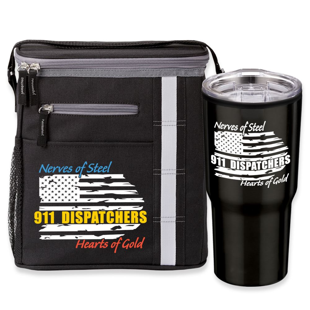 Dispatchers: Nerves Of Steel, Hearts Of Gold Westbrook Lunch/Cooler Bag & Timber Insulated Tumbler