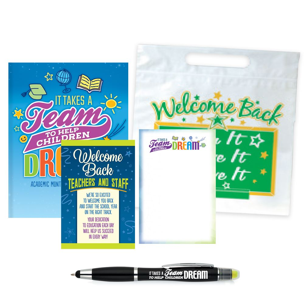 It Takes A Team To Help Children Dream Academic Monthly Desk Planner & Pen Supply Kit #2