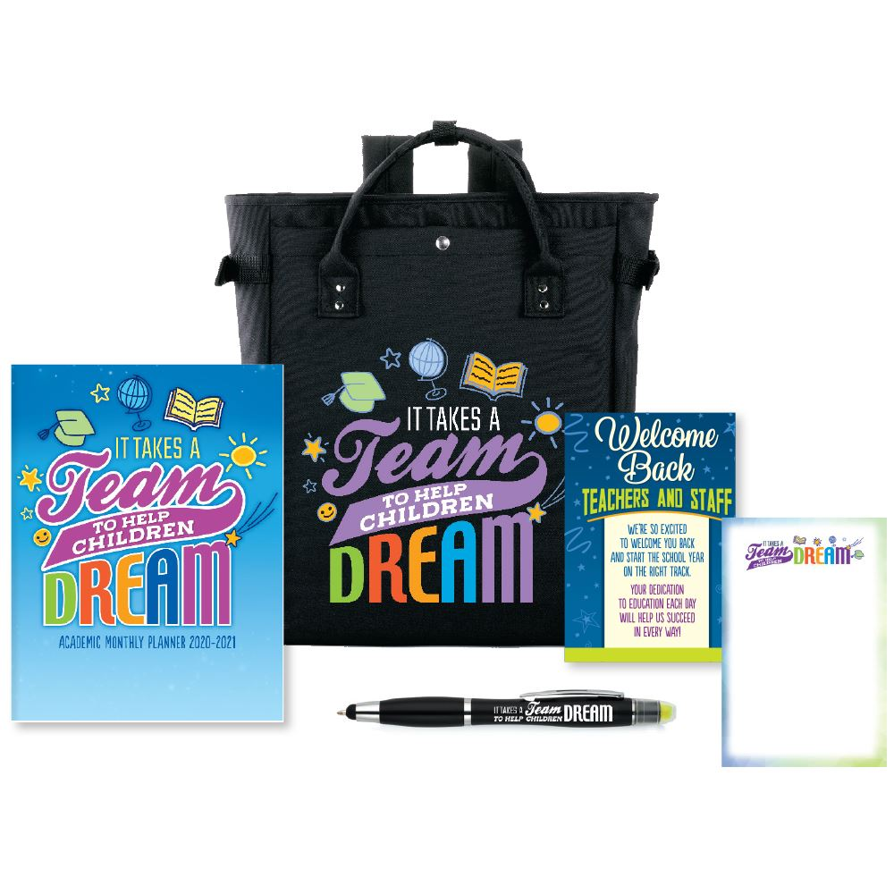 It Takes A Team To Help Children Dream Welcome Back Bag Supply Kit #3