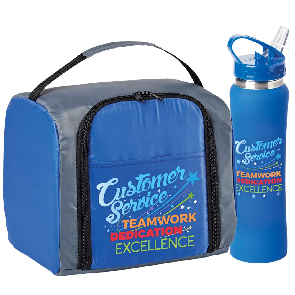 Customer Service: Teamwork, Dedication, Excellence Springfield Lunch/Cooler Bag & Lakewood Water Bottle Gift Combo