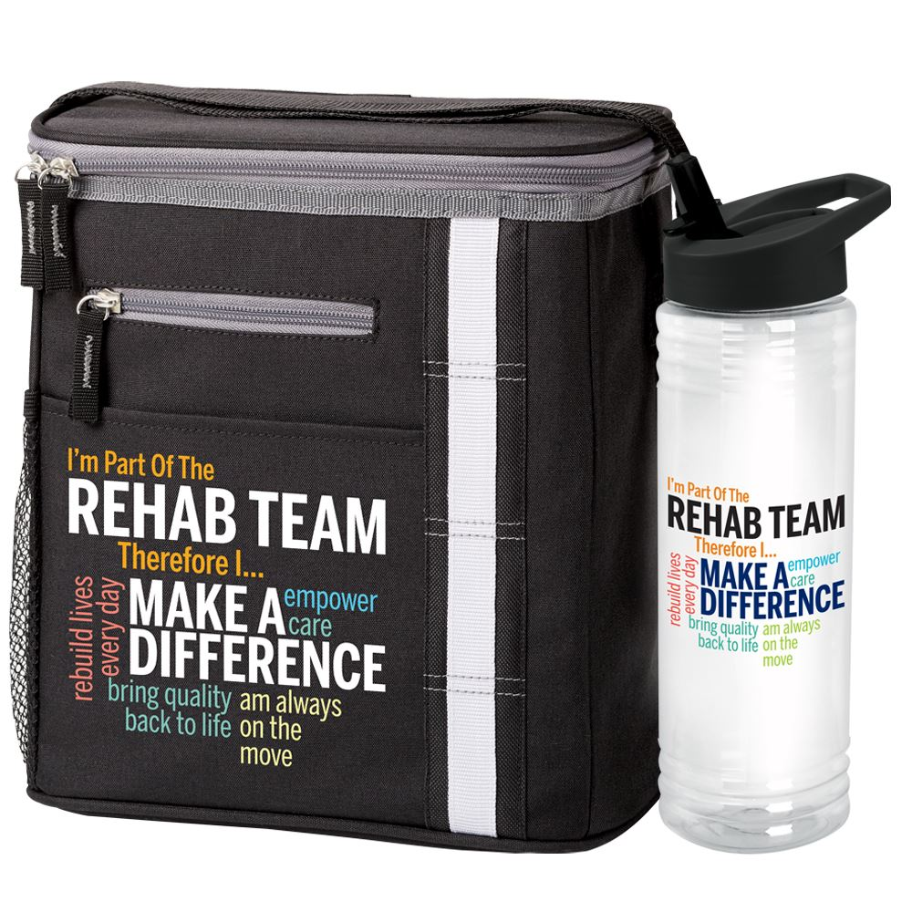 I'm Part Of The Rehab Team Therefore I... Lunch/Cooler & Water Bottle Gift Set